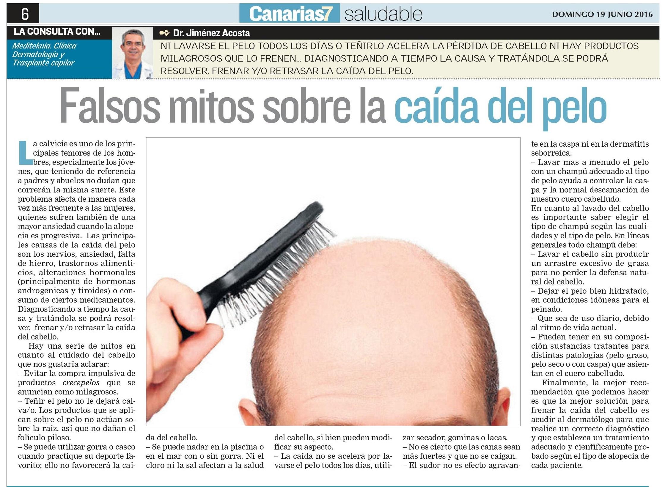 Falsos mitos sobre la caída del pelo