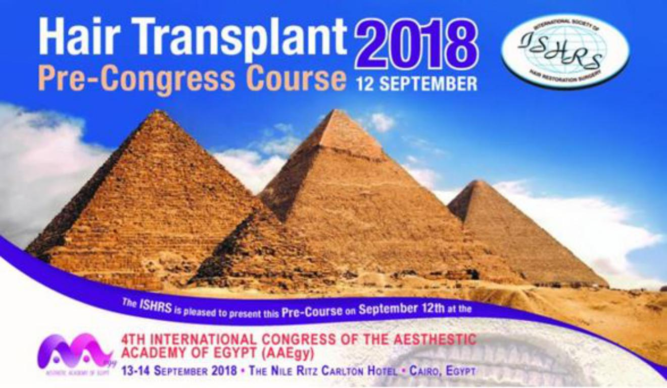 El Dr. Jiménez Acosta Presidente del  Pre-Congreso Internacional de Trasplante Capilar de Egipto